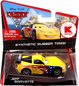 Disney / Pixar CARS 2 Movie Exclusive 1:55 Die Cast Car with Synthetic Rubber Tires Jeff Gorvette