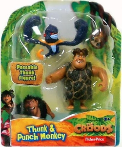 The Croods Movie 3 Inch Figure Thunk & Punch  Monkey