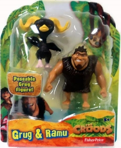 The Croods Movie 3 Inch Figure Grug & Ramu
