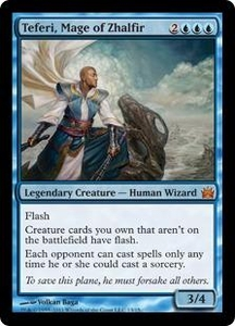 Magic: The Gathering From the Vault: Legends Single Card Blue Mythic Rare #13 Teferi, Mage of Zhalfir
