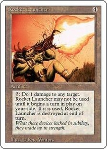 Magic the Gathering Revised Edition Single Card Rare Rocket Launcher Played Condition