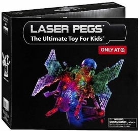 Laser Pegs Exclusive 12 In 1 Building Set #1670 Butterfly