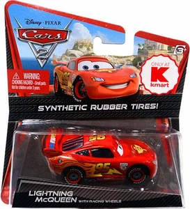 Disney / Pixar CARS 2 Movie Exclusive 1:55 Die Cast Car with Synthetic Rubber Tires Lightning McQueen