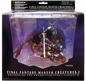 Final Fantasy Master Monster Creature Collection Series 2 PVC Arts Figure Knights of the Round Damaged Package, Mint Contents