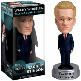 Funko How I Met Your Mother Talking Wacky Wobbler Bobble Head Barney Stinson It's going to be legen (wait for it) dary!