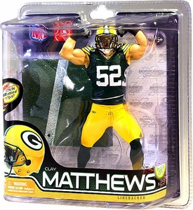 McFarlane Toys NFL Sports Picks Series 28 Action Figure Clay Matthews (Green Bay Packers) Green Jersey