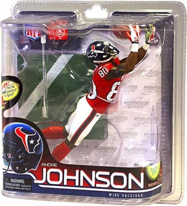 McFarlane Toys NFL Sports Picks Series 28 Action Figure Andre Johnson (Houston Texans) Red Jersey