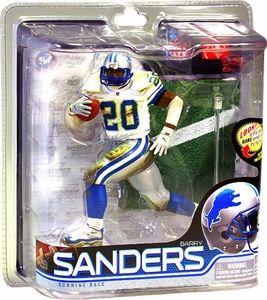 McFarlane Toys NFL Sports Picks Series 28 Action Figure Barry Sanders (Detroit Lions) White Jersey with Mud Bronze Collector Level Chase Only 2,000 Made!