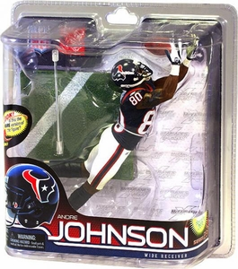 McFarlane Toys NFL Sports Picks Series 28 Action Figure Andre Johnson (Houston Texans) Blue Jersey Bronze Collector Level Chase Only 2,000 Made!