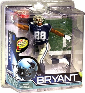 McFarlane Toys NFL Sports Picks Series 28 Action Figure Dez Bryant (Dallas Cowboys) Blue Jersey Bronze Collector Level Chase Only 2,000 Made!