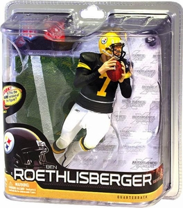 McFarlane Toys NFL Sports Picks Series 28 Action Figure Ben Roethlisberger (Pittsburgh Steelers) Retro Jersey Silver Collector Level Chase Only 1,000 Made!