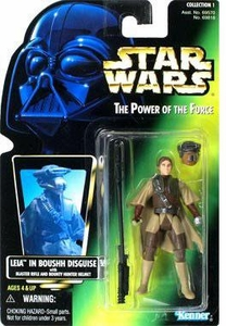 Star Wars POTF2 Power of the Force Photo Card Leia in Boushh Disguise w/ Blaster Rifle and Bounty Hunter Helmet