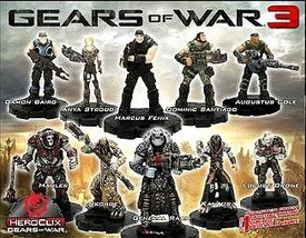 Gears of War Heroclix Set of 10 Single Figures