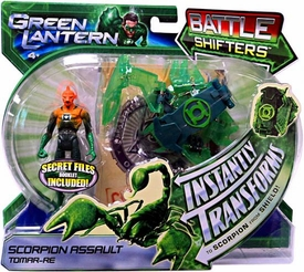 Green Lantern Movie Battle Shifters Deluxe Action Figure Scorpion Assault Tomar-Re [Instantly Transforms!]