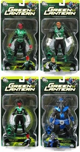 DC Direct Green Lantern Series 5 Set of 4 Action Figures [Soranik Natu, Brother Warth, Guy Gardner & Sinestro]