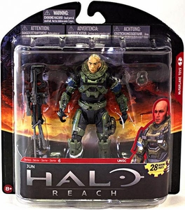 Halo Reach McFarlane Toys Series 6 Action Figure Jun [Unhelmeted]