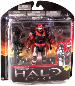 Halo Reach McFarlane Toys Series 6 Exclusive Action Figure TEAM RED Spartan Recon {Male} COLLECTOR'S CHOICE!