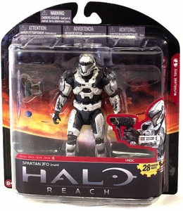 Halo Reach McFarlane Toys Series 6 Exclusive Action Figure WHITE Spartan JFO {Male}
