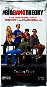 Cryptozoic Big Bang Theory Seasons 1 & 2 Trading Card Pack