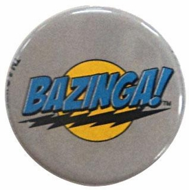 Big Bang Theory Gray Bazinga! Logo Pin