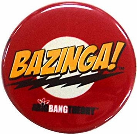 Big Bang Theory Red Bazinga! Logo Pin