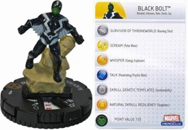 Marvel Heroclix Single Figure #104 Black Bolt