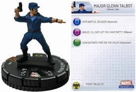 Marvel Heroclix Single Figure #102 Major Glenn Talbot