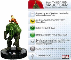 Marvel Heroclix Single Figure #047 Man-Thing & Howard the Duck