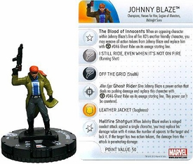 Marvel Heroclix Single Figure #007 Johnny Blaze