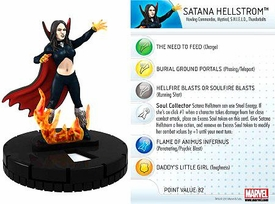 Marvel Heroclix Single Figure #034 Satana Hellstrom