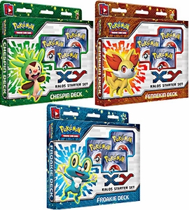 Pokemon XY Kalos Set of 3 Deluxe Starter Decks [Chespin, Fennekin & Froakie]
