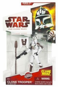 Star Wars 2009 Clone Wars Animated Action Figure CW No. 02 Clone Trooper [Space Gear]