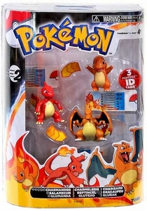 Pokemon TOMY Basic Figure Evolution 3-Pack Charmander, Charmeleon & Charizard