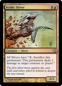 Magic the Gathering Premium Deck Series: Slivers Single Card Uncommon #13 Acidic Sliver