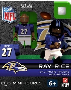 OYO Football NFL Building Brick Minifigure Ray Rice [Baltimore Ravens]