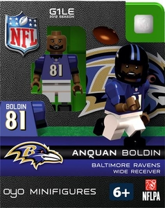 OYO Football NFL Building Brick Minifigure Anquan Boldin [Baltimore Ravens]
