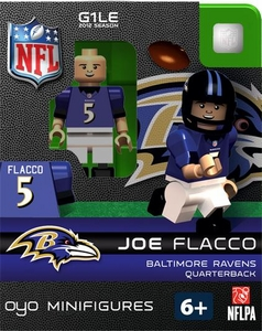 OYO Football NFL Building Brick Minifigure Joe Flacco [Baltimore Ravens]