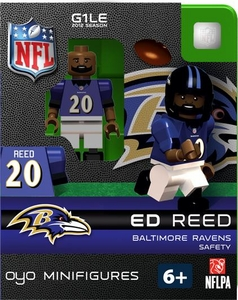 OYO Football NFL Building Brick Minifigure Ed Reed [Baltimore Ravens]