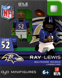 OYO Football NFL Building Brick Minifigure Ray Lewis [Baltimore Ravens]