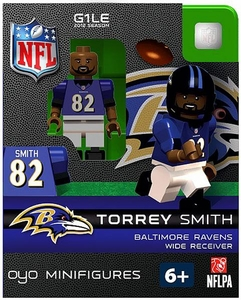OYO Football NFL Building Brick Minifigure Torrey Smith [Baltimore Ravens]