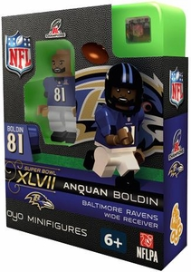 OYO Football NFL Building Brick Minifigure Anquan Boldin [Baltimore Ravens] AFC Champions