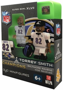 OYO Football NFL Building Brick Minifigure Torrey Smith [Baltimore Ravens] Super Bowl XLVII Champions