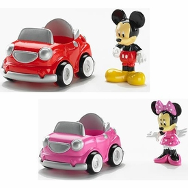 Disney Fisher-Price Mickey Mouse Clubhouse Figure & Vehicle 2-Pack [Mickey & Minnie Cars]