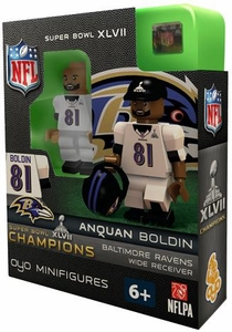 OYO Football NFL Building Brick Minifigure Anquan Boldin [Baltimore Ravens] Super Bowl XLVII Champions