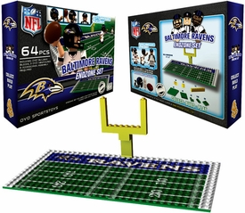 OYO Football NFL Generation 1 Team Field Endzone Set Baltimore Ravens