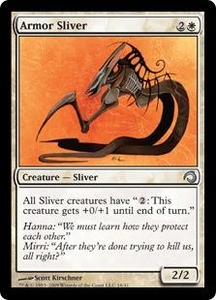 Magic the Gathering Premium Deck Series: Slivers Single Card Uncommon #16 Armor Sliver