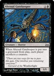 Magic the Gathering Duel Decks: Divine vs. Demonic Single Card Common #31 Abyssal Gatekeeper