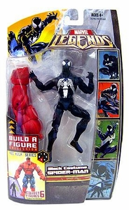 Marvel Legends Exclusive Red Hulk Build-A-Figure Wave Action Figure Black Suit Spider-Man