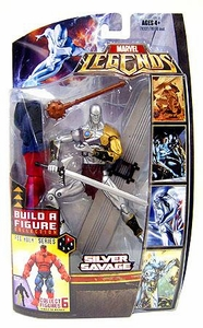 Marvel Legends Exclusive Red Hulk Build-A-Figure Wave Action Figure Silver Savage
