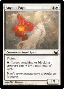 Magic the Gathering Duel Decks: Divine vs. Demonic Single Card Common #3 Angelic Page